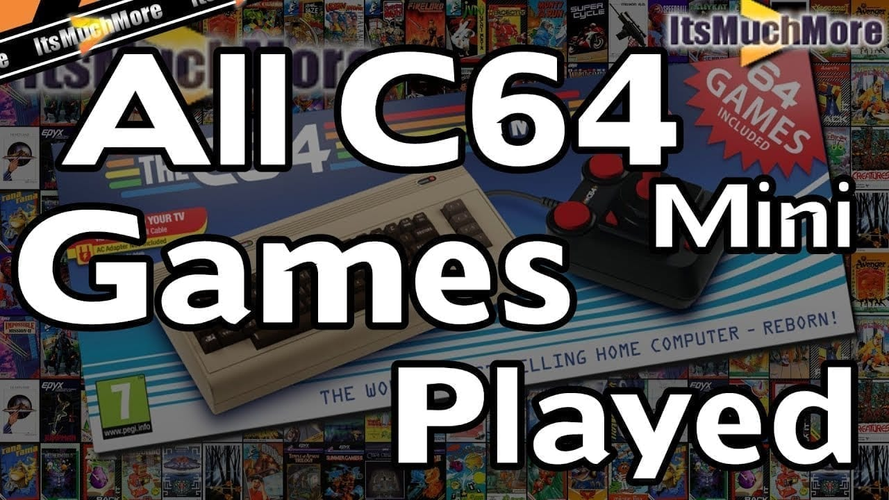 C64 Mini Games List